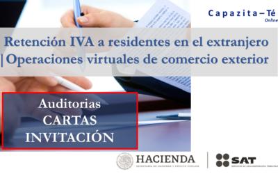 Retención del IVA a residentes en el extranjero | Operaciones virtuales de comercio exterior